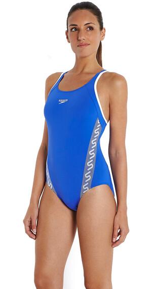 speedo Endurance+ Monogram Strój kąpielowy Kobiety niebieski